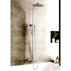 Columna de ducha extra larga termostática cuerpo frío