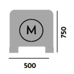 MODULO L  500 x 750 con ventana